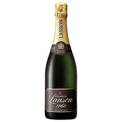 Lanson Black Label Champagne NV case of 6 Pinot Noir Chardonnay Pinot Meunier