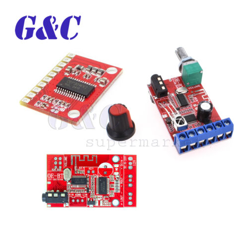 DC 12V 24V Bluetooth Audio Receiver Module 15W-30W *2 Stereo Amplifier Board