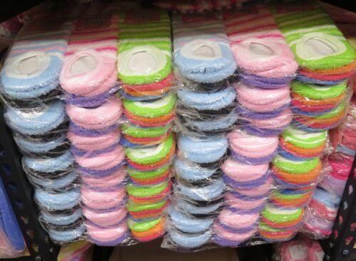 240 Pairs Wholesale Lot Womens Colorful Soft Fuzzy Ankle Slipper Socks With Grip