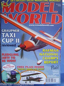 RCMW-RC-MODEL-WORLD-JANUARY-2008-THOMAS-MORSE-SCOUT-S-4C-PLAN-RAFMAA-TAXI-CUP-II
