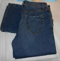 Fabulosity Junior Stretch Zip Bottom Straight Leg Denim Jeans Blue 7
