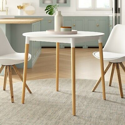 Lena Round Dining Table With Solid