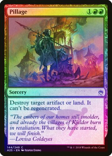 Pillage FOIL Masters 25 NM Red Common MAGIC THE GATHERING MTG CARD ABUGames