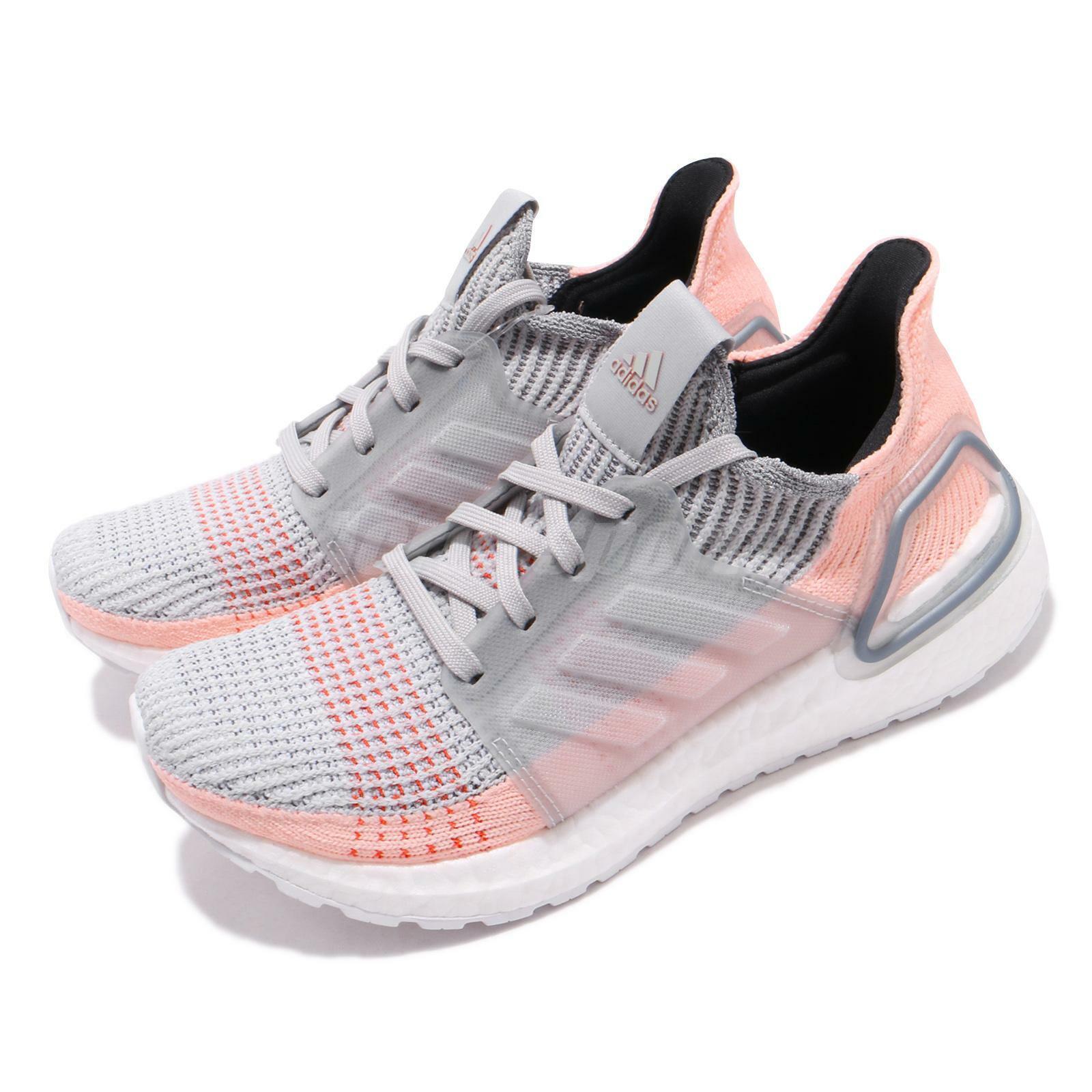 Adidas Ultraboost 19 gris Claro Naranja Mujer Running Zapatos TENIS B75881