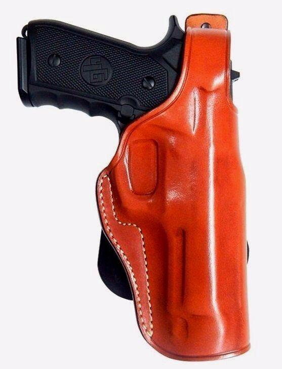 Funda de Cuero Paleta con el pulgar break para Beretta F92, 96, 90 dos R H