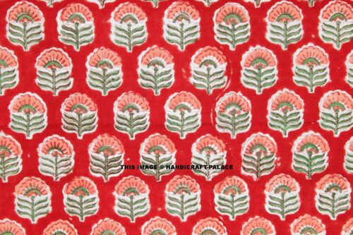 Decorative Hand Block Print Craft Cotton Cambric Indian Fabric Sewing By 1 Yard