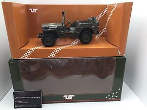 """UT 1:18 MILITARY JEEP """"WILLY'S JEEP"""" 180 149001 VERY RARE NOT AUTOART"""