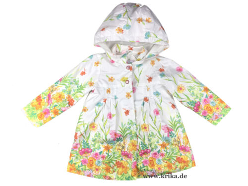 PAMPOLINA Mädchen Mantel mit Kapuze 6563059 WHITE FLOWERS Jacke Anorak Parka NEU