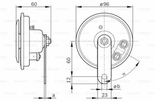 BOSCH 0 986 320 111 Horn für VW RENAULT PEUGEOT