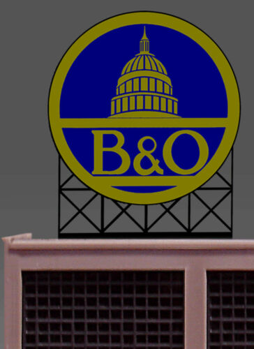 MILLER ENGINEERING B/&O SUPER ANIMATED NEON LIGHT SIGN HO//O SCALE train 88-2701