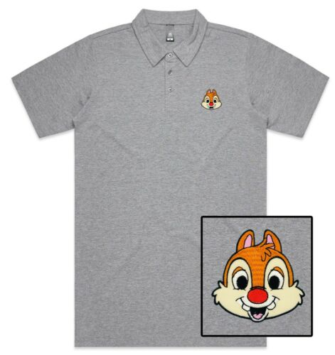 Funny Cool Squirrel Face Embroidered Polo Shirt Polo T-shirt