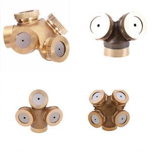 Details about Brass Agricultural Mist Spray Nozzle Garden Irrigation System  Lawn Sprinkler