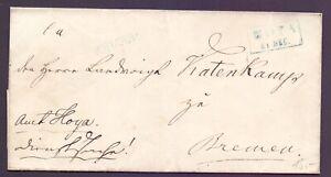 Vorphilabrief-Altbrief-ca-1855-aus-HOYA-nach-Bremen-mit-blauen-Stempeln-559