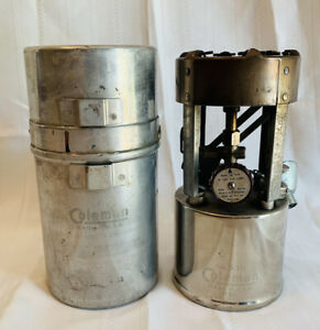 Vintage B/46 COLEMAN G.I. POCKET STOVE Single Burner Model 530 Tool Funnel WORKS