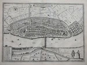 NIEDERLANDE-HOLLAND-OVERIJSSEL-KAMPEN-URBIS-CAMPENSIS-BRAUN-HOGENBERG-1581