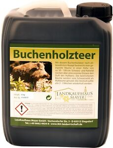 5-KG-Jagd-Buchenholzteer-Top-Lockmittel-Schwarzwild-Holzteer-Wildverbiss-Rotwild
