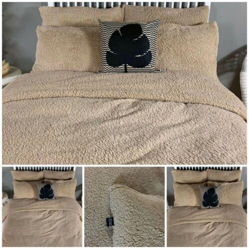 Moelleux Et Confortable Plage Teddy Bear Set Literie couette Housse de Couette Matelassée Extra fourrure chaude