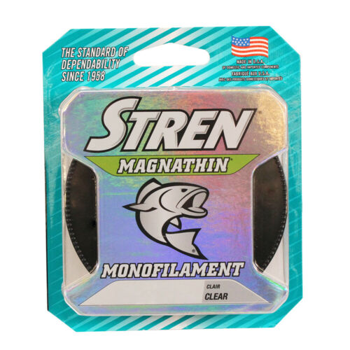 Stren Magnathin Monofilament 4 6 8 10 12 16 20 30 lbs 330 yds All Colors
