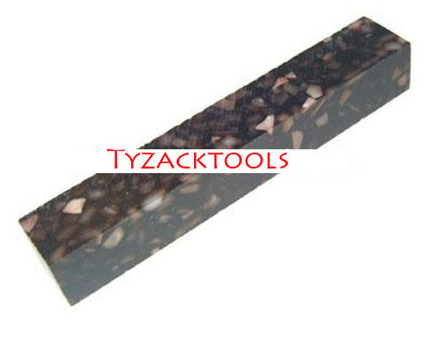 Tyzack Acrylic Crushed Coffee with White Crush Pen Blank TY-SH36-BL