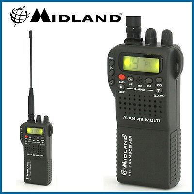 Midland Alan 42 AM FM Multi Band Mobile Handheld CB Transceiver Radio & Cover