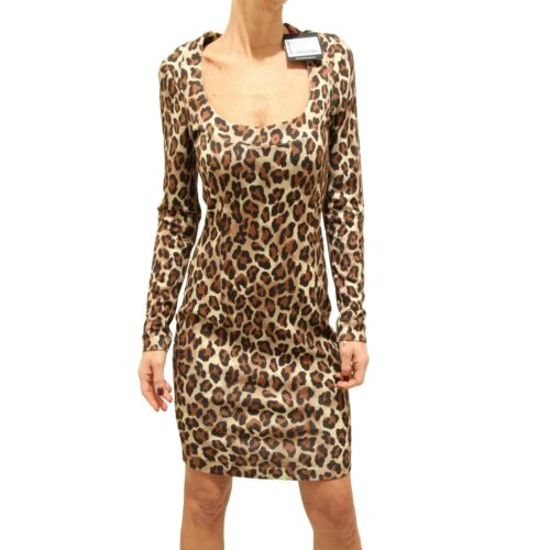 9050F vestito animalier WHOS WHO VISCOSA abito donna dress women