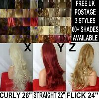 Half Wig Clip In Hair Piece 3/4 Wig Fall long cheap wavy curly straight layered