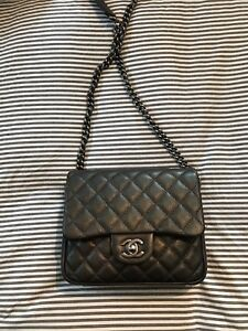 c6c0fc894585 Image is loading CHANEL-Metallic-Goatskin-Quilted-Rock-In-Rome-Flap-