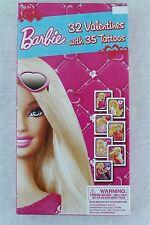 BARBIE Valentine's Day 32 Cards & 35 Tattoos Sticker Sheet Class Exchange