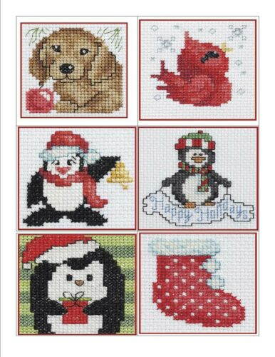Tags Decor Cross Stitch Pattern Book 50 QUICKIES For CHRISTMAS ~ Ornaments