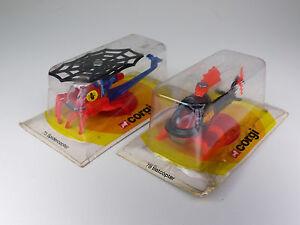 vintage-Corgi-Juniors-75-Spidercopter-78-Batcopter-aus-Lagerfund-NOS-MISB