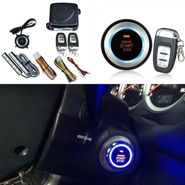 8 Pcs Car Suv Keyless Entry Engine Start Alarm System Push On Remote Starter