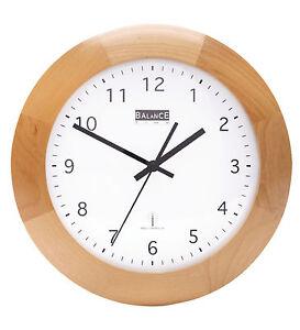 Funk Holz Wanduhr analog Quarz - 32cm Designer Uhr rund Küche Büro ...