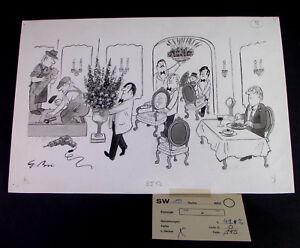 Gerhard-Brinkmann-1913-1990-G-Bri-Cartoon-Entwurf-Restaurant-signiert