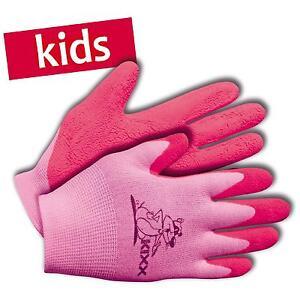 KIXX-Kinder-Handschuhe-Garten-Arbeitshandschuhe-Nylon-Latex-Gr-5-rosa