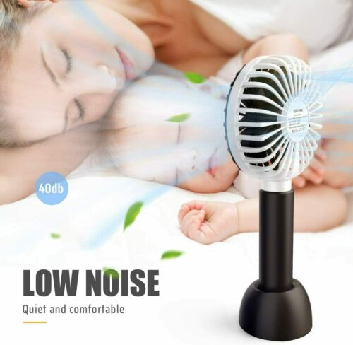 USB Hand Fans with Rechargeable Battery For Home Travel Handheld Electric Fan