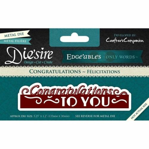 Die/'sire Edge/'ables Thank You So Much Die by Crafter/'s Companion NEW