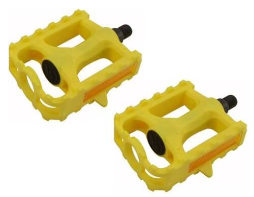 """New Bicycle PVC Pedals 1//2/"""" Yellow 202-360"""