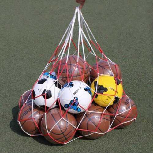 Basketball Football Mesh Bag Ball Carry Net Bag Soccer Volleyball Training  NEW