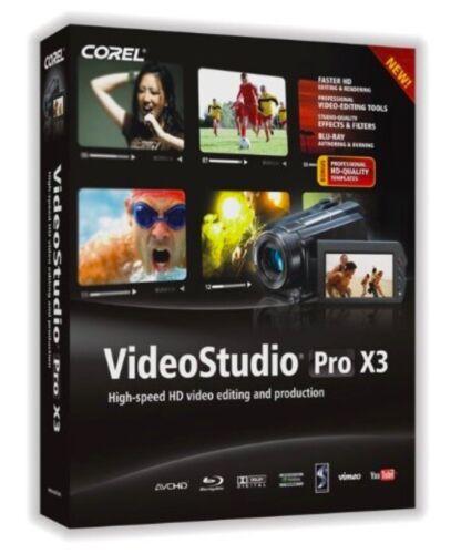 PC Windows Corel VideoStudio Pro X3 video editing software NEW GENUINE SEALED