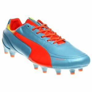 Puma-EvoSPEED-1-2-Leather-Firm-Ground-Cleats-Casual-Soccer-Cleated-Cleats-Blue