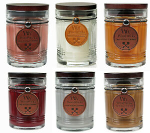 WoodWick RESERVE Candles * Leather Hangtag * Wood Lid ...