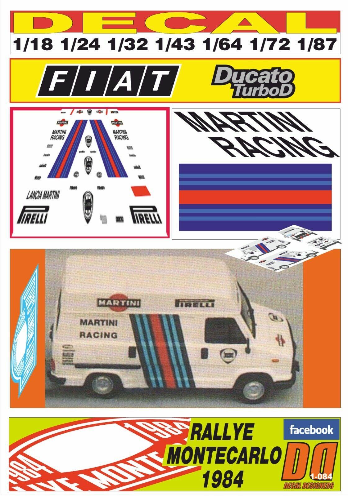 DECAL FIAT DUCAT LANCIA MkonstINI RAKTING R.MONTEbilLO 1984 (01)