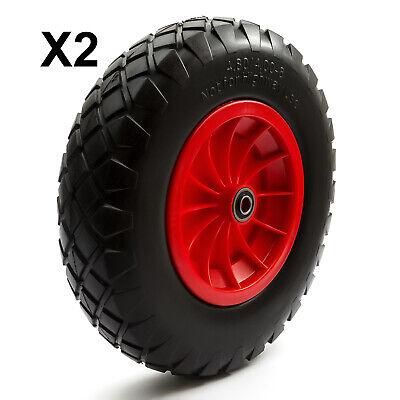 "PU 16/"" 4.80-8 4.00-8 pneu 8/"" Roue Crevaison Proof Solid Brouette Chariot"