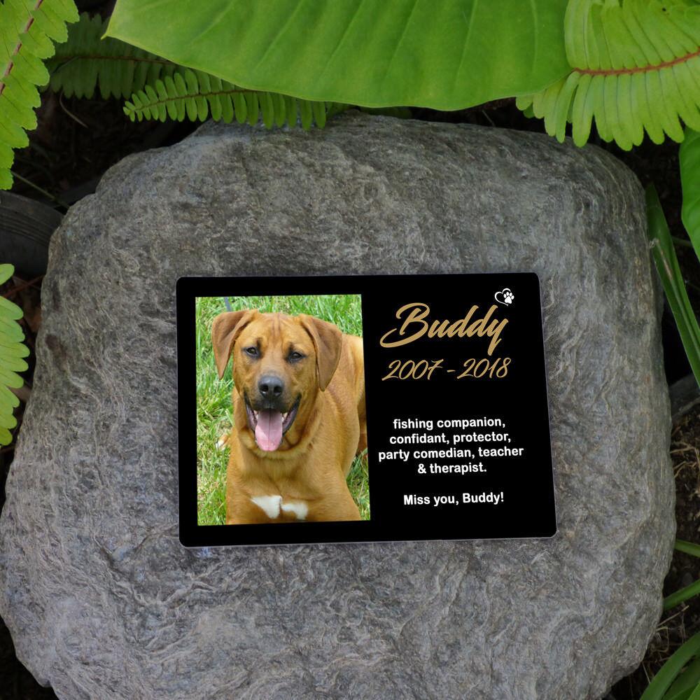Personalised Pet Memorial Plaque Dog Cat Animal . Your Image & Words.  UV Resist