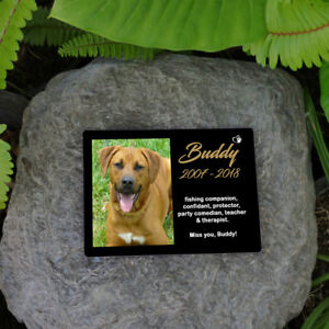 Personalised-Pet-Memorial-Plaque-Dog-Cat-Animal-Your-Image-amp-Words-UV-Resist