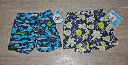 2 Circo Kids Board Shorts Infant Baby Boys Swim Trunks Navy Print UPF50 UV Sun