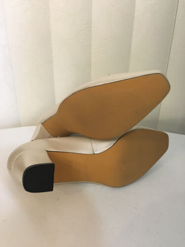 Ros Hommerson Bono BonePearl  Leather Classic Heel Shoes Sz 8-9 W
