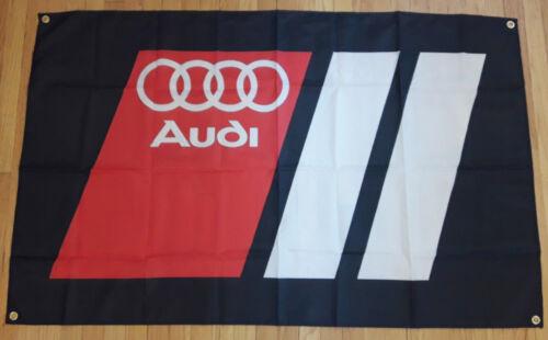 Audi Quattro Flag Garage Man Cave Automotive Mechanic Banner 5X3FT