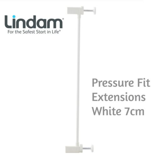 Lindam PRESSURE FIT EXTENSIONS WHITE 7CM Safety Stair Gate BN
