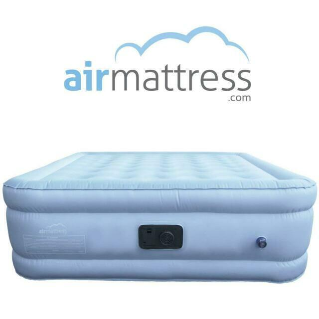 Air Mattress King Size Luxury Raised Inflatable Airbed w// Pump with Fitted Sheet
